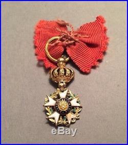 France Légion dhonneur 1er Empire en or modifiée sous la Restauration