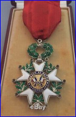 France- Légion dhonneur 5iè Rép. Modèle de luxe à brillants aux pointes SUP