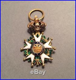France Légion dhonneur Officier 1/2 taille en or 2nde République/Présidence
