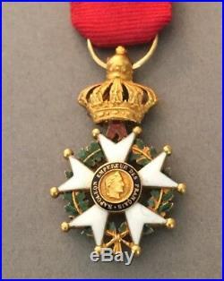 France Légion dhonneur miniature Officier 2nd Empire en or