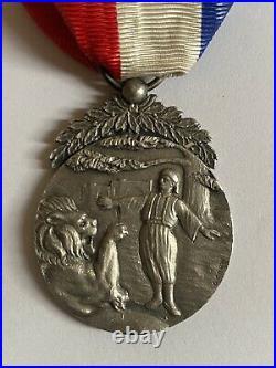 France Liban Levant Ordre Merite Libanais- 1 Type, 2eme Degree- Argent Rare
