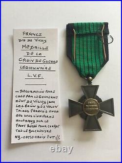 France Médaille Croix de Guerre Légionnaire RARE (70-48/57)