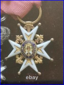 France Ordre De Saint-louis En Or Et Légion D'honneur Époque Restauration