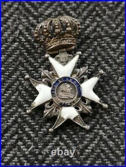 France Ordre Décoration Du Lys Louis XVIII Dieu Et Le Roi Restauration Médaille