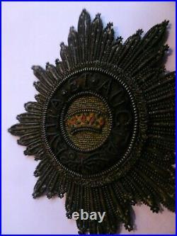 France Premier Empire Plaque en cannetille de l'Ordre de la Couronne de Fer