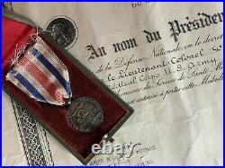 France USA Lot Médaille Service Sante Armées Diplôme Corée Reynaud General 42 Di