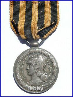 G11Ju Médaille coloniale campagne du DAHOMEY bélière olive french medal