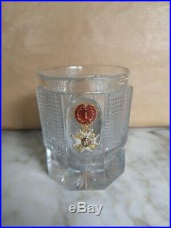 Gobelet En Cristal Baccarat Croix De L'ordre De Saint Louis Époque Restauration