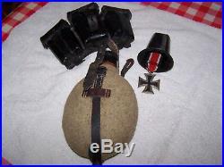 Gourde, cartouchière et croix de fer WW2 allemand