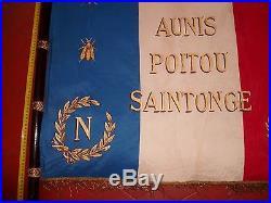 Grand Drapeau Souvenir Napoléonien Aunis Poitou Saintonge 1937 Empire Napoleon