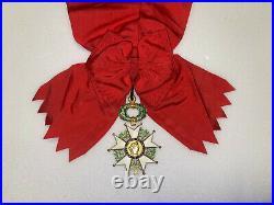 Grand croix de l'ordre de la legion d'honneur en argent doré avec poinçon