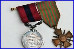 Grande Bretagne, Distinguished Conduct Medal, George V, 14-18, croix de Guerre