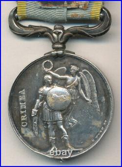 Grande Bretagne Médaille de Crimée, 1856, agrafe Française