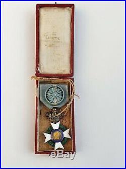 Grèce Ordre du Sauveur, chevalier, 1er type, portrait du Roi Othon 1er