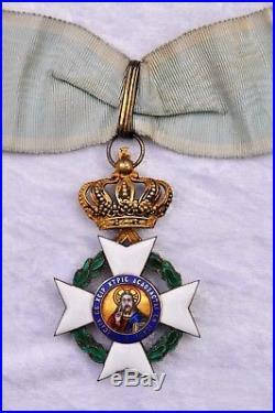Grèce Ordre du Sauveur, commandeur en vermeil, dans son écrin
