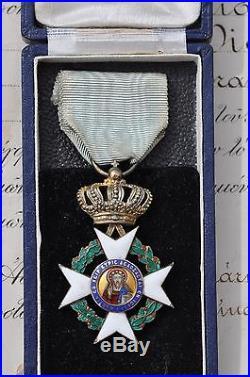 Grèce Ordre du Sauveur, officier en vermeil, avec écrin et diplome