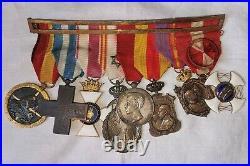 Groupe Des Médailles. Guerre Espagnole, Maroc, Italie, Alfonso XIII Et Autres