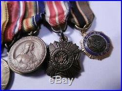 Groupe Médailles demi-taille Guerre 1914/18 Château-Thierry Saint Mihiel Verdun