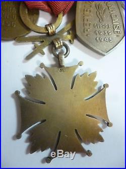 Groupe de 13 Médailles FRANCE LIBRE POLOGNE Spink London 1939/1945 Résistance