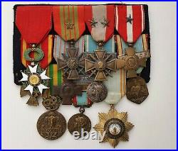 Groupe de décorations d'un officier 1939-1945, Indochine, Algérie, Anjouan