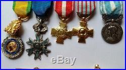 Groupe miniatures Médailles 2° GUERRE LÉGION ALGÉRIE COLONIAL ETOILE NOIRE WWII