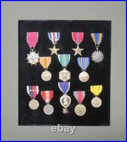 Grouping medals us Guadalcanal Silver Star Purple Heart Colonel ww2