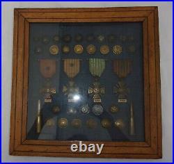 Guerre 1914 1918 Médailles Boutons Première Guerre Croix de guerre