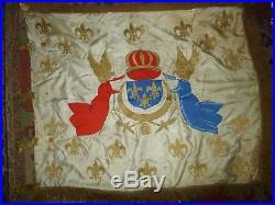 Hauteur 82 cm99superbe drapeau Royaliste familial souvenir Guerre de Vendée
