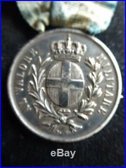 ITALIE Al Valore Militare Campagna ANCONA 1860 Attribuée Argent F. G