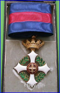 ITALIE Ordre Mérite Militaire de Savoie Commandeur 90x54mm OR