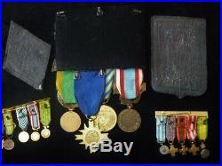 Indochine Algerie Légion etrangere portée médailles R E I Amicale Stasbourg