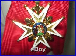 Insigne Grand-Croix de lordre de Saint Louis avec son cordon Répro historique