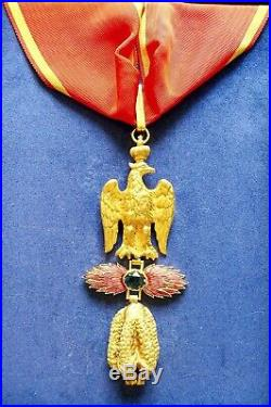 Insigne Ordre Des 3 Toisons D'or + Légion D'honneur Napoléon 1er Premier Empire