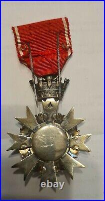 Insigne de chevalier de l'Ordre civil de la République espagnole. Trés RARE