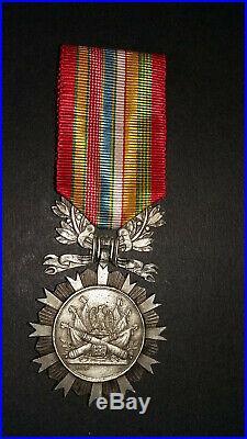 Insigne de la Société de Secours Mutuels Française des ex-militaires. 1er type