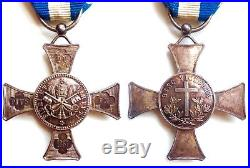 Italie France Vatican Medaille Croix De Mentana Argent