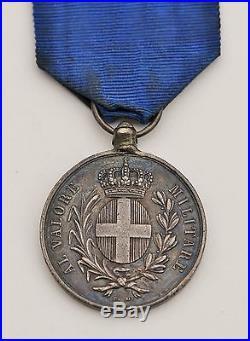 Italie Médaille de la Valeur Militaire, Guerre d'Italie 1859, attribué