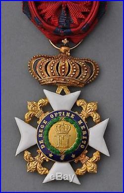 Italie Ordre de François 1er des Deux Ciciles, croix d'officier en or