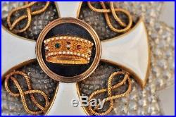 Italie Ordre de la couronne, plaque de grand officier en argent, centre en or