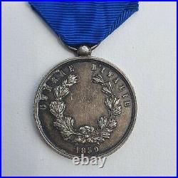 Italie, Royaume de Sardaigne, médaille de la Valeur Militaire, 1859