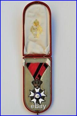 Italie Toscane, Chevalier de l'ordre du Mérite Militaire, avec son écrin