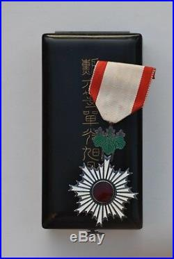 Japon Ordre du Soleil Levant, chevalier, écrin