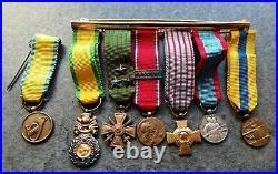 Joli Placard De Médailles Militaires Miniatures
