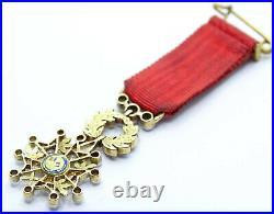 L'étoile de la LEGION d'HONNEUR / Chevalier / III Rep / Or et diamant / 0049