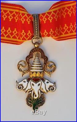 Laos Commandeur de l'ordre du Million dÉléphants, en vermeil