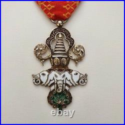 Laos Ordre du Million d'Elephants, chevalier en vermeil et émail
