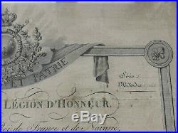 Legion D'honneur Empire Avec Diplome De Chevalier 1819 Capitaine D'infanterie
