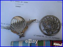 Légion Étrangère-lot MÉDAILLES 2°R. E. P-Kolwezi-Liban-Zair-d´or massif-matricule