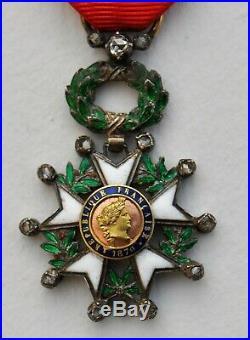 Légion d'Honneur, chevalier, III° république, 1/2 taille, 13 diamants