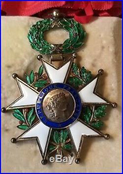 Légion d'Honneur en argent et vermeil époque 4ème République en coffret